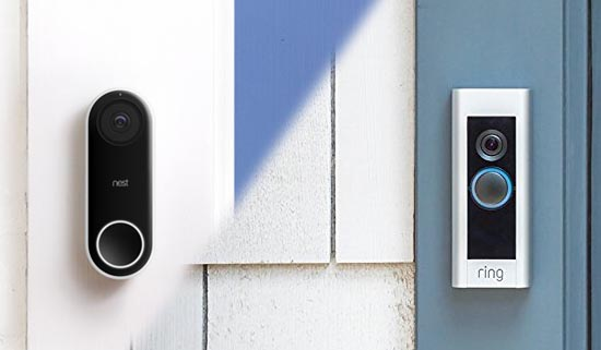 Nest and Ring Doorbells